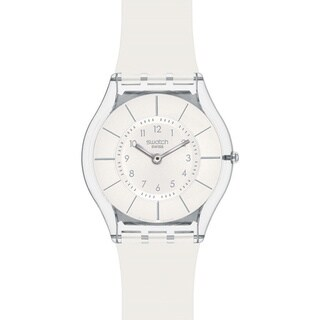 Swatch Women's Skin White Resin Quartz Watch