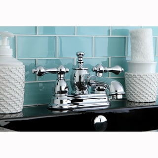 French Country Chrome Widespread Bathroom Faucet