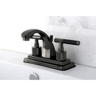 Black 4-inch Centerset Bathroom Faucet