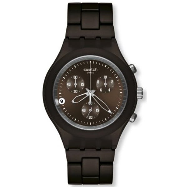 Swatch Men's Full Blooded SVCC4000AG Brown Stainless-Steel Quartz Watch with Brown Dial