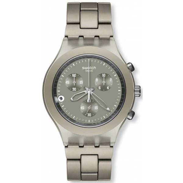 Swatch Men's Full Blooded SVCG4000AG Grey Aluminum Quartz Watch with Grey Dial