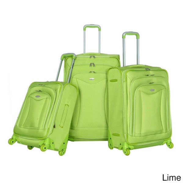 Olympia Luxe 3piece Expandable Spinner Luggage Set image