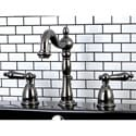 Victorian Black Widespread Bathroom Faucet