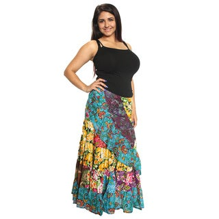 Floral Cotton Wrap Skirt (Nepal)