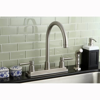 Satin Nickel 8-inch Kitchen Faucet/ Side Sprayer