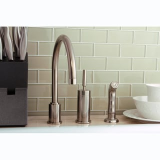 Satin Nickel Brass Kitchen Faucet/ Side Sprayer
