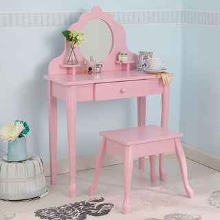 KidKraft Medium Pink Diva Table & Stool
