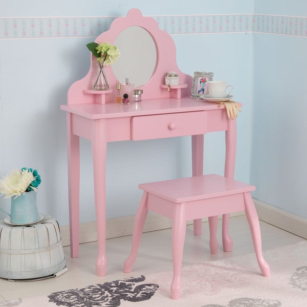 KidKraft Medium Pink Diva Table & Stool