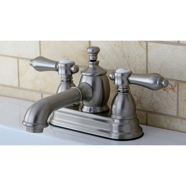 Satin Nickel 4 Inch Centerset Bathroom Faucet 15562171