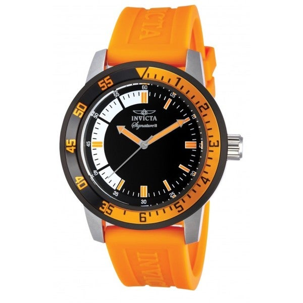 Invicta Men's Black/ Orange Watch