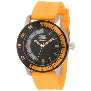 Invicta Men's Black/ Orange Watch