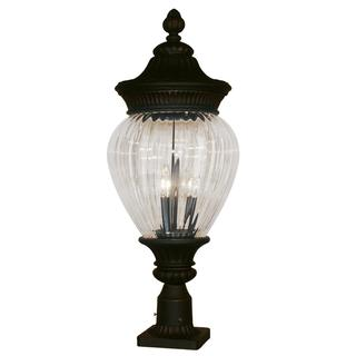 Devonshire Black Gold Outdoor Post Lamp