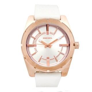 Diesel Women's White Rose Goldtone Watch