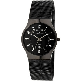 Skagen Women's 233MBB Black Mesh Bracelet Watch