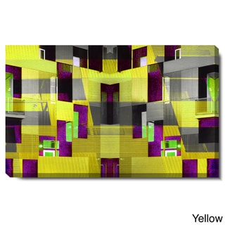 Studio Works Modern 'Yellow Atrium' Gallery Wrapped Canvas Art
