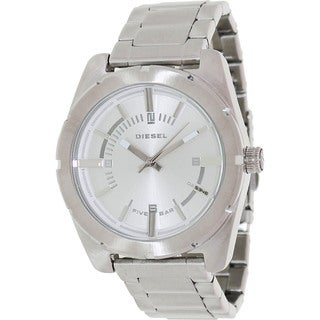Diesel Men's Silver Stainless-Steel Analog Silver Dial Quartz Watch