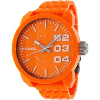 Diesel Men's Orange Plastic Orange Dial Quartz Watch