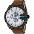 Diesel Men's DZ4280 Brown Leather Quartz Watch with White Dial