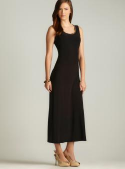 MSK Chain Link Neckline Maxi Dress