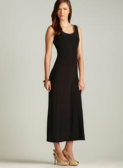 MSK Chain Link Neckline Maxi Dress