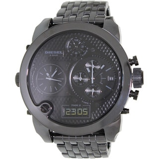 Diesel Men's DZ7254 Black Ceramic Quartz Watch with Black Dial