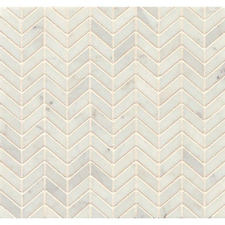 White Carrara Marble Chevron Mosaic Polished (Box of 10 sheets)