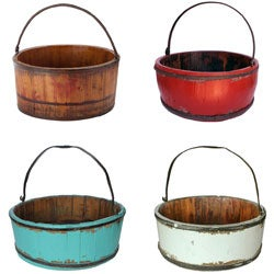 Wooden Vintage Kitchen Bucket