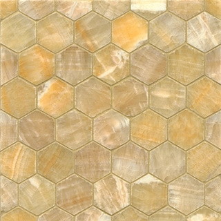 Sweet Honey Onyx Hexagon Mosaic Polished Tiles (Box of 10 Sheets)