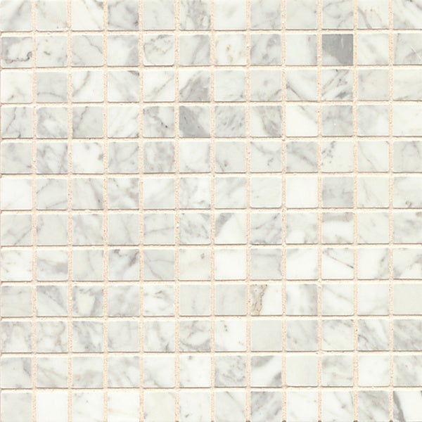 White Carrara Marble Mosaic Polished Tiles Box Of 10 Sheets
