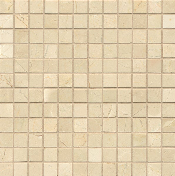 Crema Marfil Marble Mosaic Polished Tiles (Box of 10 Sheets)