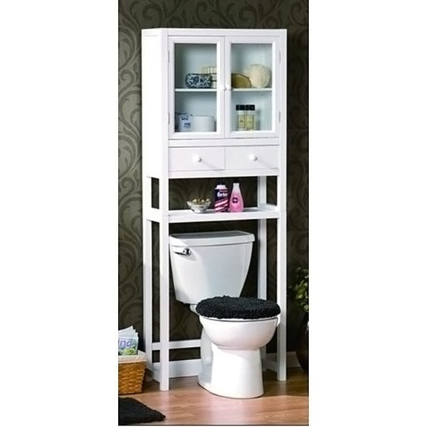 Space saver over the toilet cabinet white 15563925 - Space saver furniture for bathroom ...