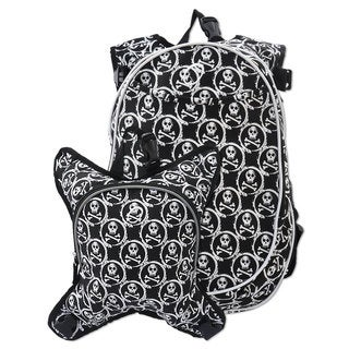 Obersee Munich Skulls School Backpack with Detachable Lunch Cooler