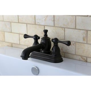 Double-handle Oil Rubbed Bronze Widespread Bathroom Faucet