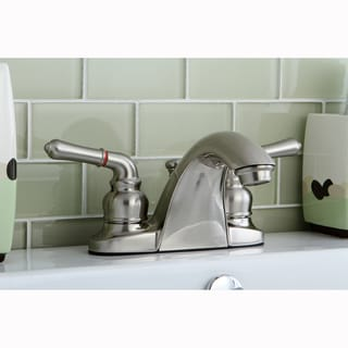 Satin Nickel Double Handle Bathroom Faucet