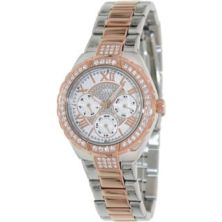Guess Women's U0111L4 Two-Tone Stainless-Steel Analog Quartz Watch with White Dial