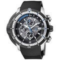 Citizen Men's Eco-Drive BJ2120-07E Black Rubber Analog Quartz Watch with Black Dial