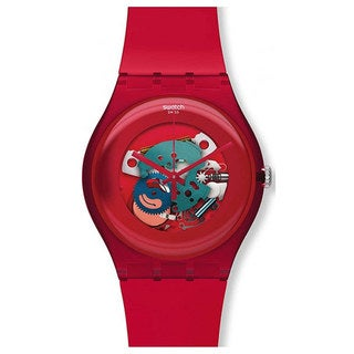 Swatch Women's Originals SUOR101 Red Plastic Quartz Watch with Red Dial