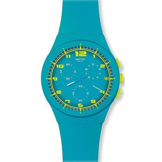 Swatch Women's Originals SUSL400 Blue Rubber Quartz Watch with Blue Dial