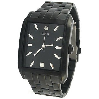 Guess Men's U13517G1 Black Stainless-Steel Quartz Watch with Black Dial