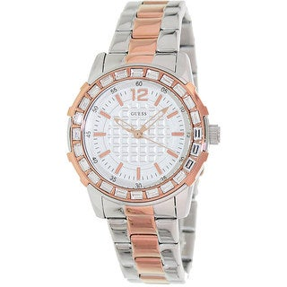 Guess Women's U0018L3 Two-Tone Stainless-Steel Quartz Watch with Silver Dial