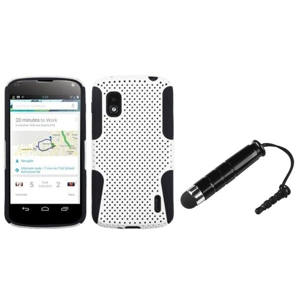 BasAcc White/ Black Astronoot Case/ Stylus for LG Nexus 4 E960