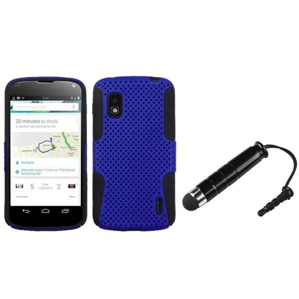 BasAcc Dark Blue/ Black Astronoot Case/ Stylus for LG Nexus 4 E960