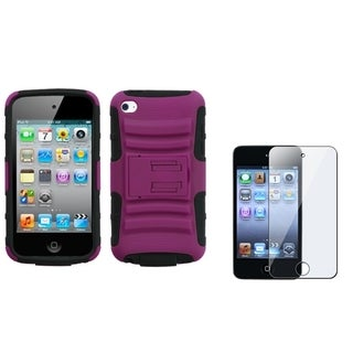 INSTEN Armor Stand iPod Case Cover/ Screen Protector for Apple iPod Touch 4