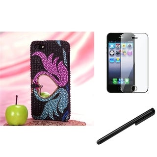 BasAcc Swan Heart Case/ Stylus/ LCD Protector for Apple iPhone 5