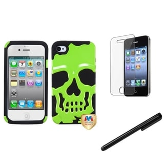 BasAcc Skullcap Case/ Stylus/ LCD Protector for Apple iPhone 4/ 4S