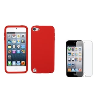 INSTEN Skin iPod Case Cover/ Anti-glare Screen Protector for Apple iPod Touch 5