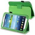 BasAcc Green Leather Case with Stand for Samsung� Galaxy Tab 3 7.0