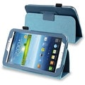 BasAcc Navy Blue Leather Case with Stand for Samsung� Galaxy Tab 3 7.0