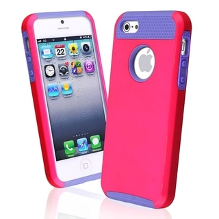 BasAcc Light Purple TPU/ Pink Hard Hybrid Case for Apple� iPhone 5/ 5S