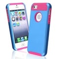 BasAcc Hot Pink TPU/ Blue Hard Hybrid Case for Apple iPhone 5